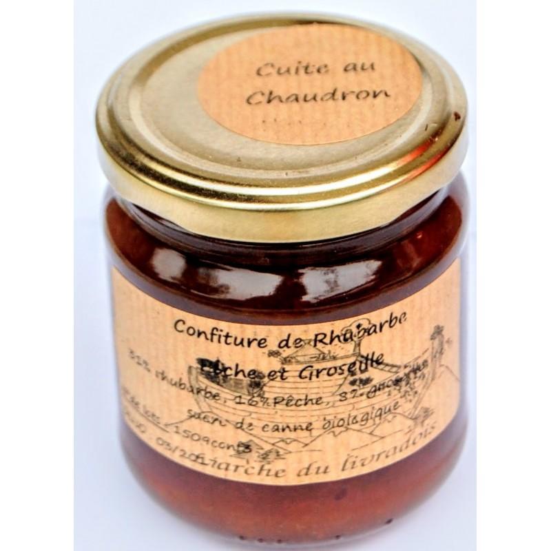 Confiture extra rhubarbe p che groseille 230g archedulivradois - Gelee de pommes avec extracteur de jus ...