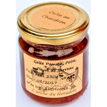 Gelée de Pomme Poire Fleurs de Sureau 230g